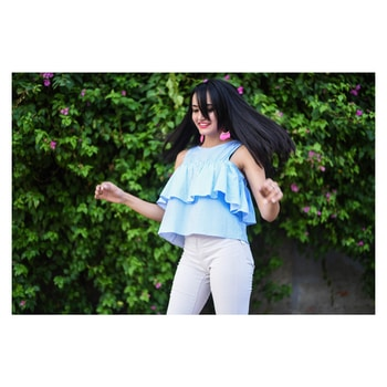 Twirl away the blues and embrace the happiness! To preorder this blue beauty DM us! #miwayfashion #miwaystyle #newcollection #pinstripes #florals #blue #twirl #twirling #weekendvibes #weekends #summerready #summerstyle #summerprints #frills #frillstops #sundayvibes #tgif #ootd #ootn #miwayorthehighway
