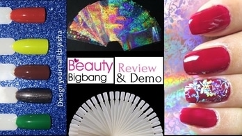 |Beauty Bigbang| Nail Art Tips Sticks and Starry Nail Foils - Review and Demo . Nail Art Tips Sticks Product Id: SKU:J1309-WH Direct Link: https://www.beautybigbang.com/products/nail-art-tips-sticks-polish-display-fan-wheel-practice-diy-salon-set . Starry Nail Foils Product Id: SKU: J2839 Direct Link: https://www.beautybigbang.com/products/16pcs-lace-laser-starry-nail-foils-holo-sticker-manicure-decoration . Store link: https://www.beautybigbang.com/ Use ISH10 for 10% off . #designyournailsbyisha #ishanailart #beautybigbang #scra2ch #scra2chweekly #beautybigbangnailart #beautybigbangnailproduct #review #demo #nailproductreviewnaddemo #reviewanddemo #holosticker #howtoapplynailfoil #starrynailfoils #lacelasersticker #nailarttipssticks #diysalonset #nailartfanwheel #beautybigbangdiscountcode