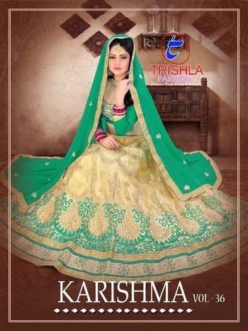 TRISHLA FASHION KARISHMA VOL 36 WHOLESALE LEHENGA For info You Can #Contact Or #Whatsapp On :9687533166 Email: textilebazar299@gmail.com