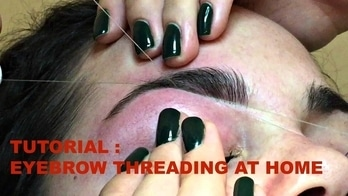 HOW TO DO EYEBROW THREADING AT HOME 👌👌Get perfect eyebrows😉Step by Step Tutorial