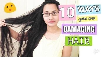 10 Ways You're Damaging Your Hair #haircare #youtuber #hairyoutuber #bangaloreyoutuber #beautifullyouh