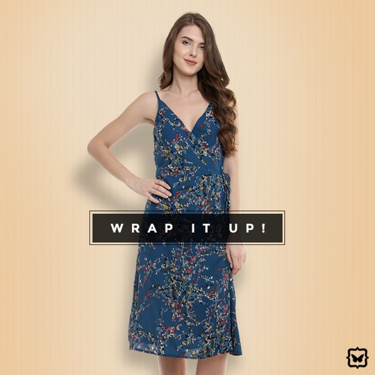 It's A Wrap- The Wrap Dress Is The #1 Dress That Works For All Body Types. It Perfectly Blends Effortlessness & Sophisticated Elegance.   STYLE TIP: Pair this with drop earrings and sky high heels! Leave your hair open in loose curls for a glam evening look.  Shop on http://bit.ly/2vFkEwg   #soroposo #onlineshopping #shopping #colour #shoppingtips #fashion #fashiontips #photooftheday #trendy #musthave #nowtrending #stylish #blogger #love #follow #fashionblogger #styleblogger #awesome #ootd #potd #ruffletop #summerstyle #summer #summer17.