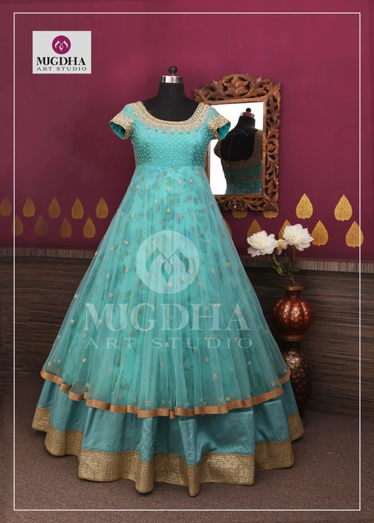 Classy Long Gown with beautiful color and hand made design perfect suit for all your special occasions . we can customize the color and size as per your requirement. Product code : MA-126 To Order with us :  whatsapp +91 8142029190/ 9010906544  For Call: 8899840840 (IVR)