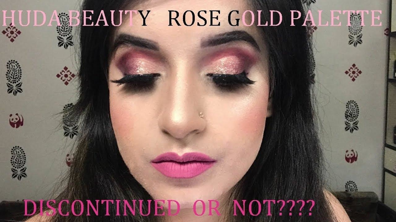 HUDA BEAUTY ROSE GOLD PALETTE | DISCONTINUED OR NOT?? | SHRADHA DHINGRA