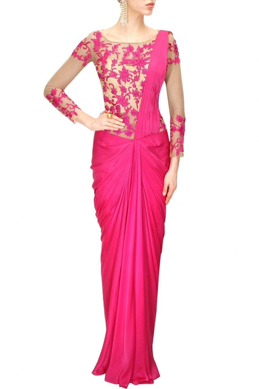 Beautiful Pink Sari Gown
