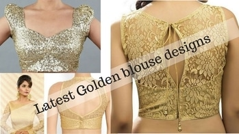 Hi girls, check out golden blouse designs to mix and match with old sarees or lehengas #soroposo #roposovideo #youtuber #youtubeindia #youtubecreatorindia #youtubechannel #blousedesign #blouseback #goldenblouse