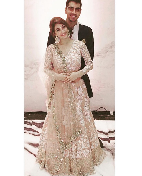 Here Our Very Beautiful Client In Her Reception Lehenga