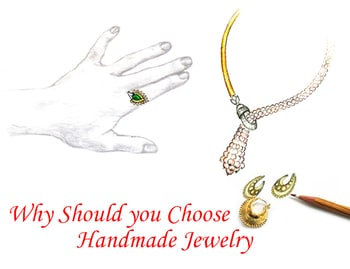 WHY SHOULD YOU CHOOSE HANDMADE JEWELRY Designer Handmade Fashion Jewelry products have a sense of uniqueness in them. (Read More at https://www.thevcollection.com/blog/why-should-you-choose-handmade-jewelery/) #goldplatedfashionjewelryonline #onlinefashionjewelry #handmadefashionjewelryonline #gemstonefashionjewelry