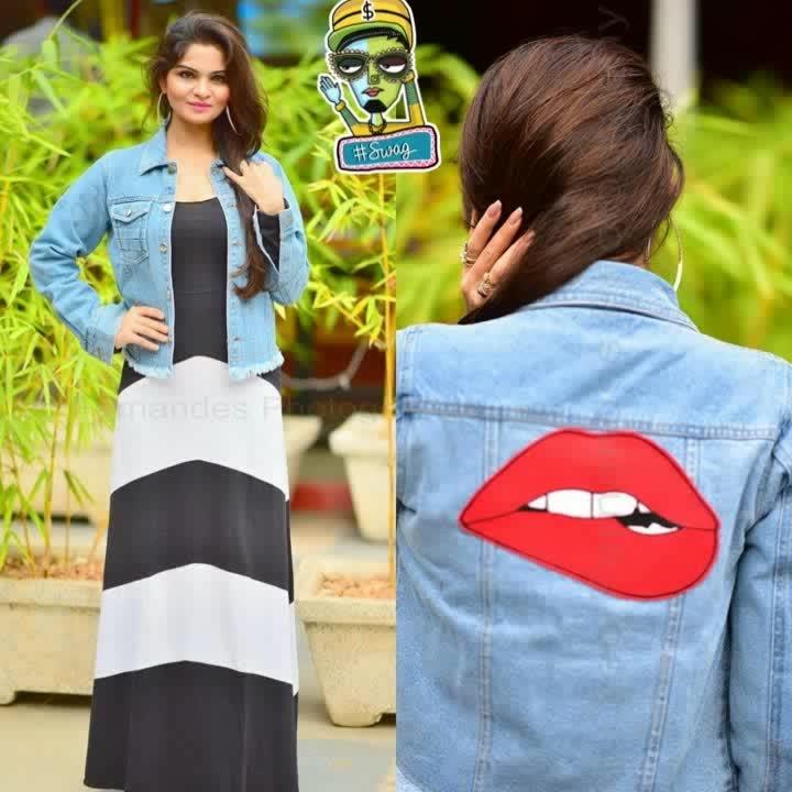 #jacket #denim-love #maxidresses #soroposo #roposo #hyderabadfashionblogger #swagger