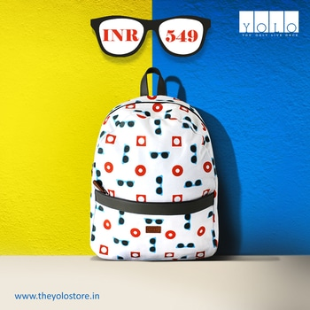 The all new sunglasses backpack ! Buy now -- goo.gl/CY39nN #backpack #totes #handbag #quirky #fun #casual #canvas #printed #trending #trends #onlineshoppingindia #onlineshopping #potd #productoftheday #yolo #theyolostore