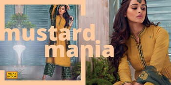 Mustard is the best color to create enthusiasm for life and can awaken greater confidence and optimism. The color loves a challenge, and evokes the confidence in you.  #meenabazaar #mustardyellow #mustardoutfit #mustarddress #salwarsuit #designersuits #indianwear #womenwear #ethnicwear #fashion #handmade #indiancouture #ootd #styleoftheday #traditional #outfitoftheday #delhi #designerwear #casualsuits #fashiongram