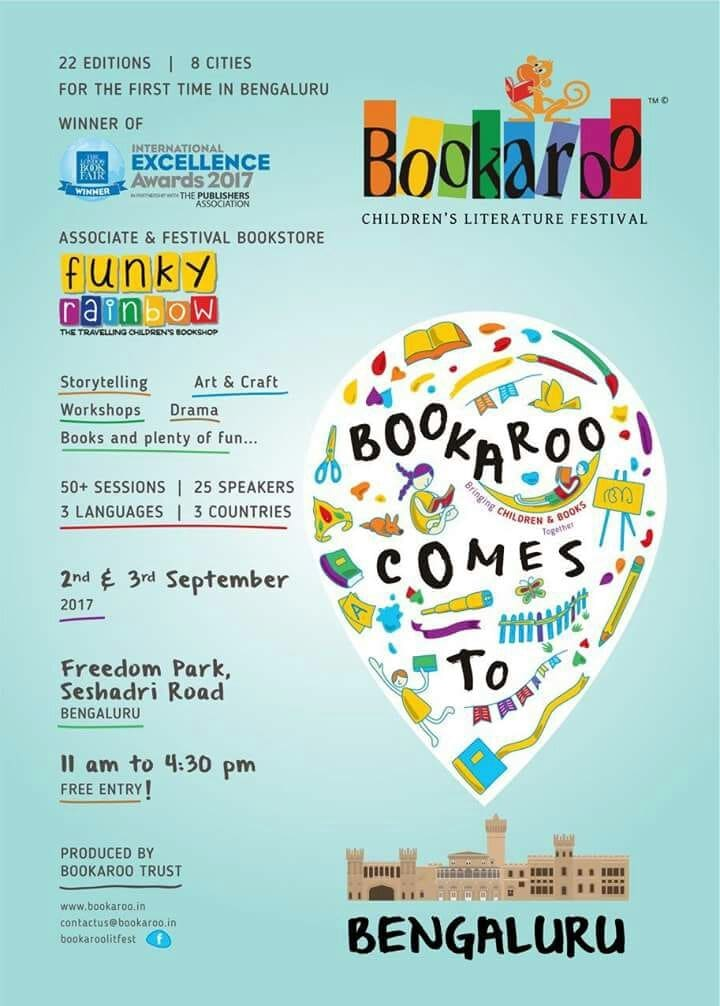 Hi guys! The Bookaroo Lit Fest for Children is happening in Bengaluru for the first time ever! Make sure you and your friends check this place out!  It's the perfect weekend activity for your kids :)  #Bookaroo #LitFest #Bengaluru #Events #FreeEntry