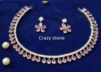 #jewelry #crazystone #pink #musthave #smile message or whatsapp us on +919251666611