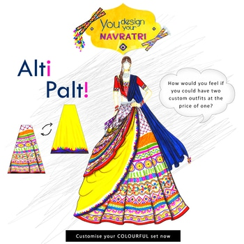 The all time favourite Navratri collection is out now in most favourite Colour. The outfits are custom designed at both the sides, so design, reverse and flaunt. You can customise anything from lehengas to jackets. Contact our designers now. Contact: 8779965613(whatsapp)/02228661616  Email: designer@ninecolours.com  #customisedclothing #womenfashion #ladiesfashion #trendingnow  #mumbaigram #navratrispecial #mumbaifashion #shoponline #traditional #uniquedesign