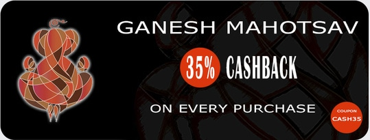 India Emporium GANESH MAHOTSAV Get 35% Cashback on Every Purchase!!! Visit http://indiaemporium.com/ #saree #salwarkameez #lehengacholi many more.