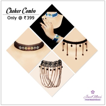 #14Fashions Set Of 4 Jewellery Combo @ Rs.399/- Shop Now : https://goo.gl/MUP9cD #Buyonline #Choker #Combo #Jewellery #JewelMaze