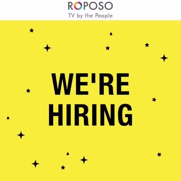 Let Roposo be your first (or maybe second) job! We're looking for someone to join our Public Relations team with 0-1 year of experience. You must have great communication skills and open to playing table tennis with us every once in a while! Come, be a part of India's first TV By The People. This is a Gurgaon based position, interested candidates must send their CVs to careers@roposo.com. Good luck. #RoposoCareers #Jobs #Roposo