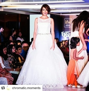 My showstopper moment at the International Fashion week #IFW, Goa. Outfit by the lovely Sandra Lobo