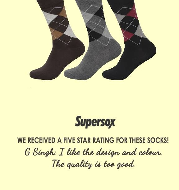 We are so excited about our review on www.supersox.in! Woohoo! Get these socks here > http://tinyurl.com/ychhmvgs #Supersox #SuperSocks #Socks #Review #HappyCustomer #FabQuality #sockathon #StreetStyle #SocksForMen #MensStyle #CelebrityStyle #mumbai_uncensored #everydaymumbai #Accessories #BombayTimes #FunSocks #GreatPrices #Hyderabad #OnlineShopping #Patiala