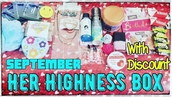 Her Highness Box of September 2017 consists of more than 10 products including skincare, makeup, jewellery and lifestyle products. The total worth of the products is around Rs. 2000 and the box is priced at Rs. 649 only. After discount it comes to just Rs. 585/- which I feel is a very good deal, since I did like all the products in the September box. It's even better than their August Launch edition. 👑 Avail Discount of 10% using code mentioned in video. Watch video to know more details about products. Channel in bio 😍 👑 To place an order:  DM : https://www.instagram.com/herhighnessbox/ Or WhatsApp : 9871912929 Or Email : herhighnessbox@gmail.com 👑 #herhighnessbox #septemberedition #beautysubscription #personalhygeine #skincare #honestreviews #monthlysubscription #unboxingandreview #youtuber #sonammahapatra #discoveringsubscriptions #beautytips