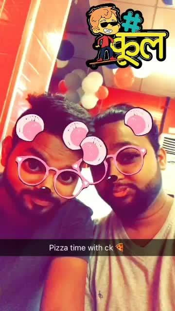Chintu and me having pizza 🍕  😂😂 jai mata di #pizza #pizzalover #delhi #delhibloggercommunity #blogger #foodblog #jaimatadi #meer #kallijotta #vlog #trends2017 #cool