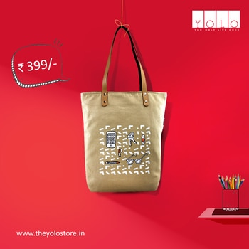 The everyday essential tote with durable leather handle !  Visit www.theyolostore.in to buy now #handbag #tote #bags #bagsindia #canvastote #printed #quirky #trendy #trending #onlineshoppingindia #onlineshopping #potd #productoftheday #collegetote #girly #yolo #theyolostore