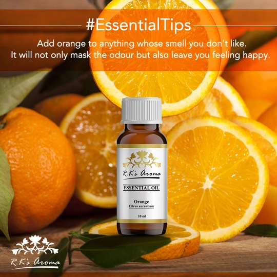 Whether it's a weird smelling lotion or smelly shoes, R.K's Aroma Orange essential oil will zap it up in no time!  Buy Now: http://rkaroma.com/product-category/essential-oil/