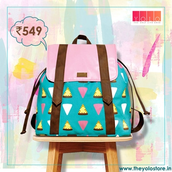Quirky pizza backpack ! Check out www.theyolostore.in to order :)  #fun #quirky #backpack #YOLO #theYOLOstore #canvastote #printed #pink #blue #fauxleather #veganleather #onlineshopping #onlineshoppingindia #styleme #trending #potd #productoftheday