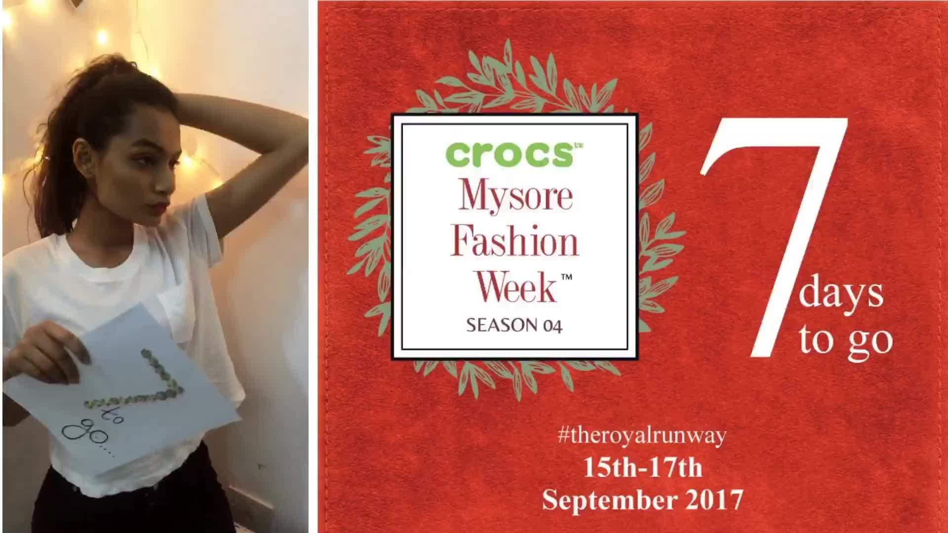 #theroyalrunway will have leading designers from India showcasing their work! #MysoreFashionWeek17