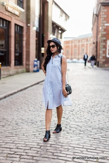 Outfit Post: Shirt Dress  The beauty of the shirt dress lies in its versatility – you can dress it up or down, wear it during the day or at night, and make it look ultra casual or super smart.  #shirtdress #shirtdresses