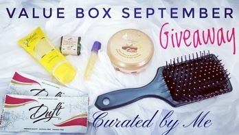 Value Box is a recently launched Beauty Subscription Box in India which is priced quite affordably and provides Full sized as well as sample sized beauty products. Their September edition is curated by Me and is themed as Beauty Basics. It consists of essential Skincare, Hair care and Body care products, which makes it a definite Value for money Box, for literally Anyone! ❤ I have done an unboxing and review video on my channel. Watch now to know more!😍👍 Channel link in bio 🤗 ❤ Place order here : https://www.instagram.com/valueboxindia/ Price : Rs. 385/- including shipping Price with Face Elixir : Rs. 450/- including shipping ❤ GIVEAWAY RULES: 1.  You need to be a subscriber of my YouTube channel to be eligible for this Giveaway. 2.  Follow me on Instagram & Facebook.  (If you do not have Instagram/Facebook account, you can put extra efforts on youtube itself. No worries) 3. Once you can done with above rules , leave any comment on the youtube video confirming participation. ❤ To Earn extra brownie points : 0.Be an active and returning subscriber. I would really appreciate knowing your opinion on my videos in the comments section. And please like the videos, if you really do. 0.Share this video and/or Insta post on one or more social media platforms tagging me. You can also tags your friends while sharing. But these are not rules and completely optional. ❤ NOTE : 1. Ask your friends to mention your name when they join. Any existing subscriber should not comment that they have subscribed for you, rather should mention their best wishes to show support to you. Please do not support more than 1 person for winning. It gets difficult to count efforts. 2. All those who unsubscribe after the Giveaway results will be banned from all future giveaways. ❤ **Winner will be announced on 30th September, 2017.  **Winner will be getting the Value Box of Rs. 450/-  **Giveaway for Indian Residents only. ❤ #valuebox #valueboxindia #beautysubscription #september #curatedbyme #affordabl
