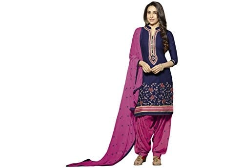 Kvsfab Women Blue & Pink #Patiala #Suit for Women @ Rs.499. Buy Now at http://bit.ly/2wYi1qc
