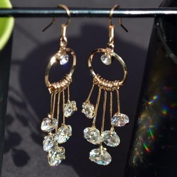Hanging Crystal Earrings  SHOP NOW : http://bit.ly/2fhg3Ii  #be-fashionable #ropo-love #trendy #fashion #designer #beauty #fashionblogger #followme #newdp #roposo #love #soroposo #blogger #wordpower #fleaffair #earrings #jewelry #jewelrylover #earings