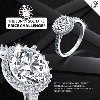 The Sunny Solitaire Price Challenge* The best diamonds at the best prices. Find a Solitaire that's priced lower than ours and we'll refund you the difference. https://goo.gl/wP9aPq #solitaires #diamondjewellery #diamonds