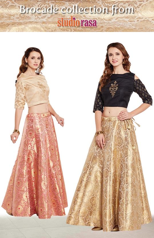 Brocade collection!  http://bit.ly/2u0e2YH  #9rasa #studiorasa #ethnicwear #ethniclook #fusionfashion #online #fashion #newarrivals2017 #lehengaonline #festivecollection #brocade