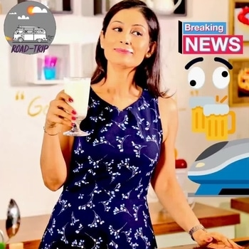 Once the #BulletTrain starts half of my Amdavadi friends will be in Mumbai for Happy Hours & get back home for dinner the same night. #chefmeghna #cheers #happyhours #bullettrainindia #fun #acchedin #NarendraModi thank you. #roadtrip