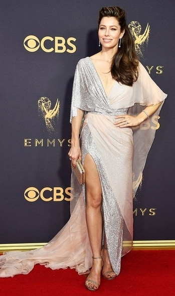 Jessica Biel in Ralph and Russo Dress for EMMY awards #international #gowns #emmys2018