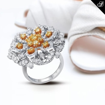 Marvellous fine jewellery artistically crafted from internally flawless diamonds. https://goo.gl/2ubSCe #diamondjewellery #diamonds #diamondring