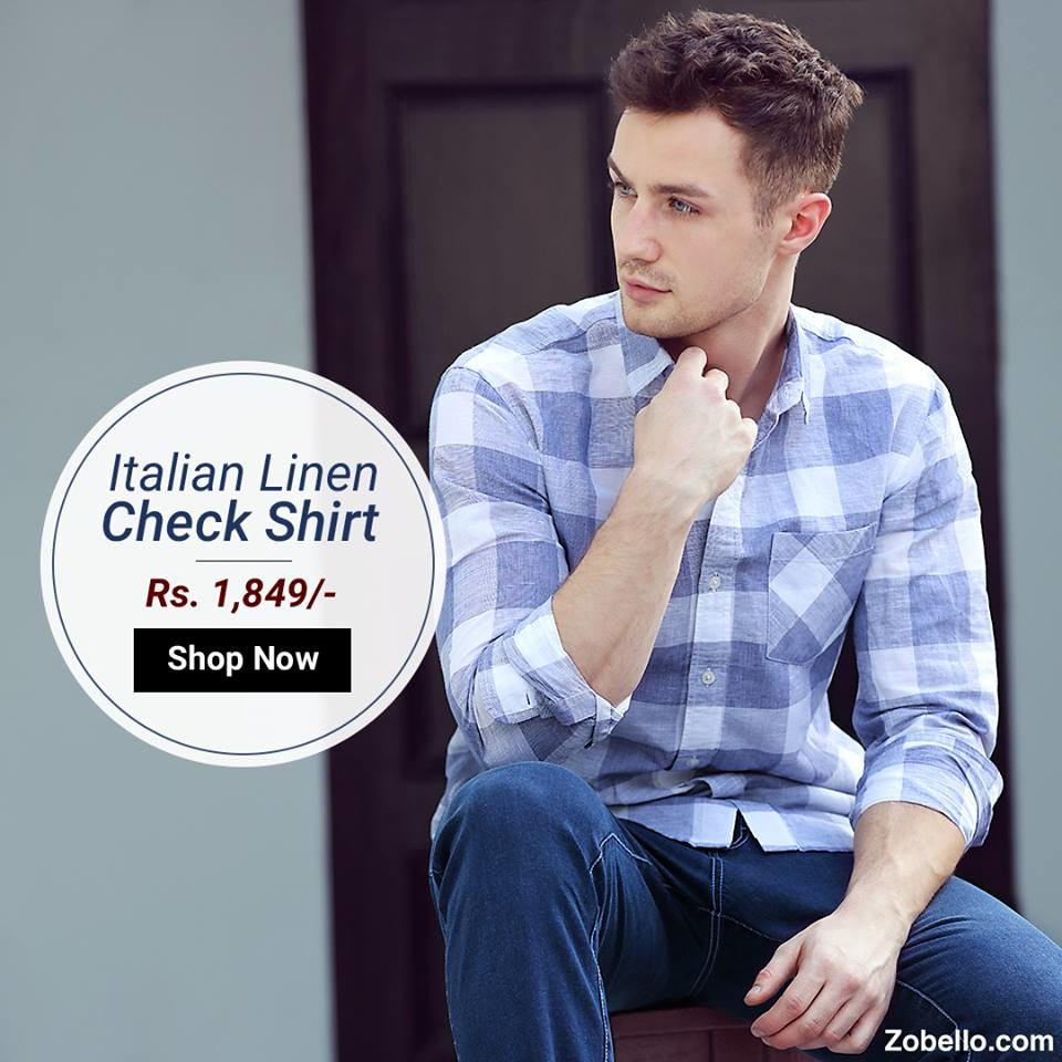 Make your weekdays easy in this lightweight linen check shirt.
