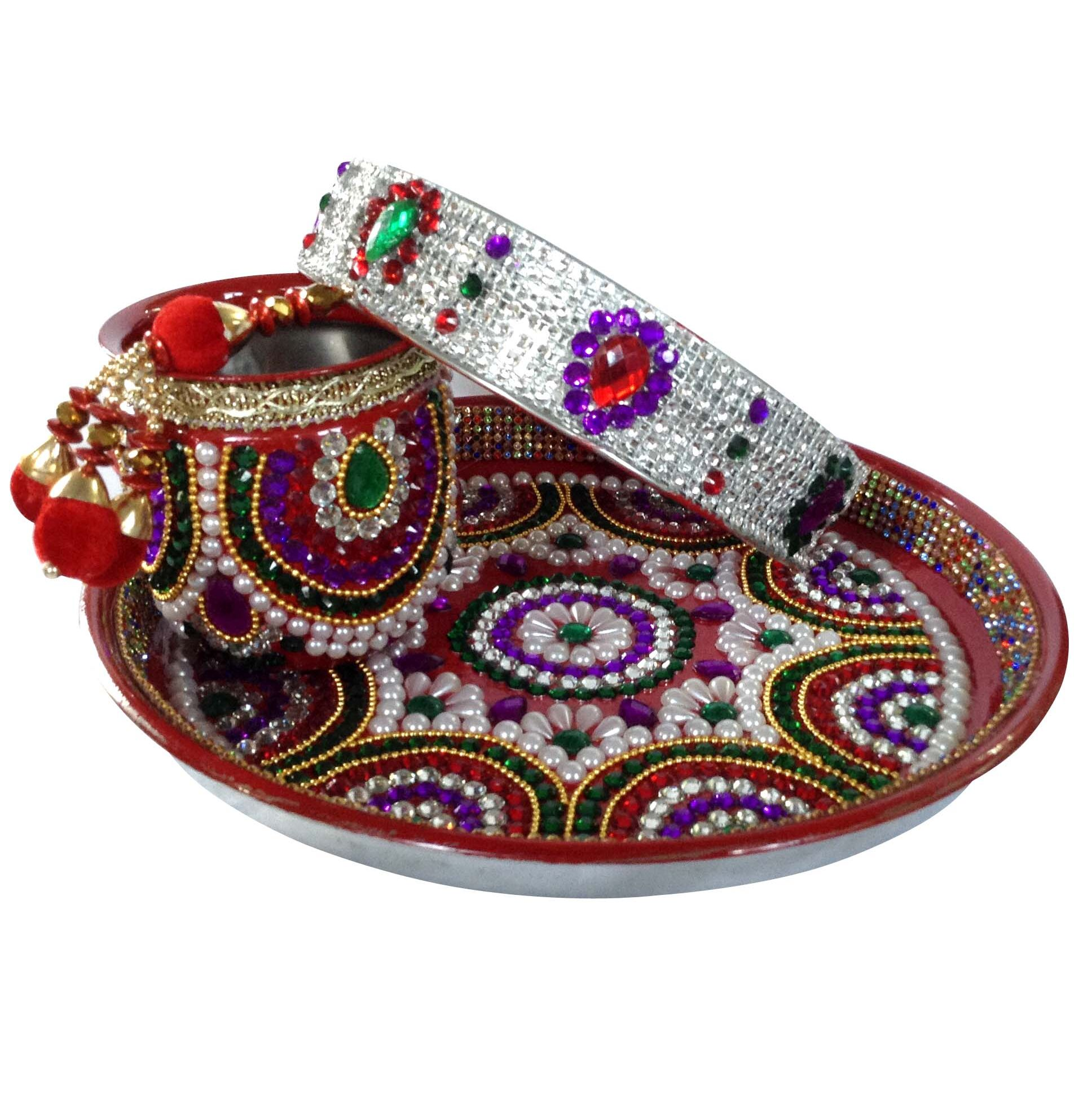 Beautiful Kundan Curved Karwa Chauth Puja Thali...  SHOP NOW : http://bit.ly/2hhjajL  #makeup #nationspeaks #be-fashionable #trendy #ropo-love #ootd #indian #youtuber #fashionblogger #newdp #blogger #model #fashion #soroposo #roposo #love #followme #beauty #styles #pujathali #karwachauth  #karwachauththali #fleaffair