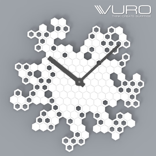 Buy 3D Printed Honeycomb Engraved Wall Clock by VURO  #trendy #designer #interior #home-decor #walldecor #wallart #wallclocks #roposo-style   #makeup #nationspeaks #be-fashionable #trendy #ropo-love #ootd #indian #youtuber #fashionblogger #newdp #blogger #model #fashion #soroposo #roposo #love #followme #beauty #styles