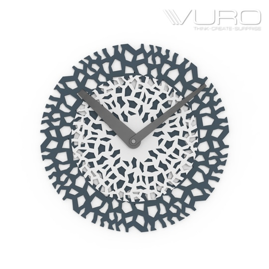 Buy 3D Printed Twofold Ultimate Mesh Wall Clock by VURO  #trendy #designer #interior #home-decor #walldecor #wallart #wallclocks #roposo-style   #makeup #nationspeaks #be-fashionable #trendy #ropo-love #ootd #indian #youtuber #fashionblogger #newdp #blogger #model #fashion #soroposo #roposo #love #followme #beauty #styles