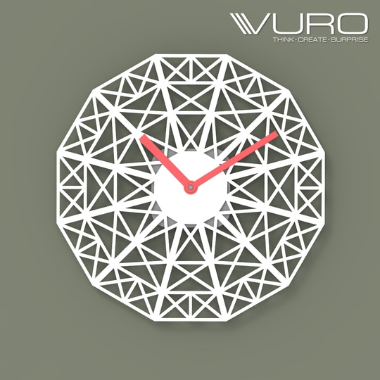 Buy 3D Printed Geometric Crisscross Wall Clock by VURO   #trendy #designer #interior #home-decor #walldecor #wallart #wallclocks #roposo-style   #makeup #nationspeaks #be-fashionable #trendy #ropo-love #ootd #indian #youtuber #fashionblogger #newdp #blogger #model #fashion #soroposo #roposo #love #followme #beauty #styles