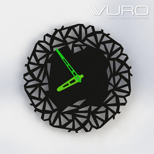 Buy 3D Printing Objectifying Edge Wall Clock by VURO   #trendy #designer #interior #home-decor #walldecor #wallart #wallclocks #roposo-style    #makeup #nationspeaks #be-fashionable #trendy #ropo-love #ootd #indian #youtuber #fashionblogger #newdp #blogger #model #fashion #soroposo #roposo #love #followme #beauty #styles