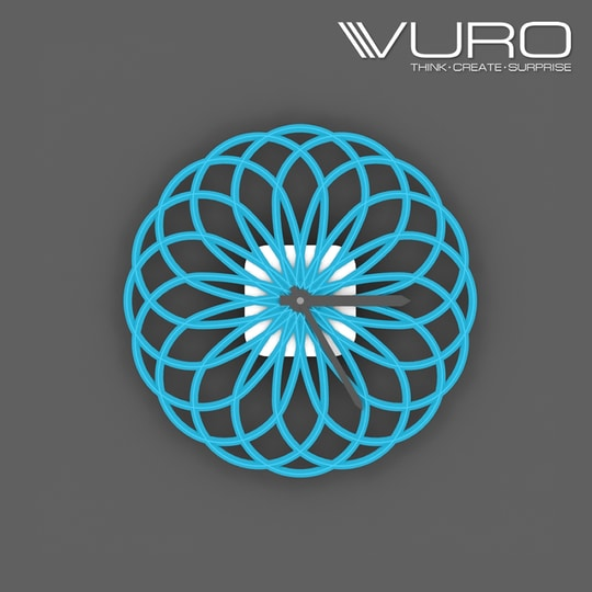 Buy 3D Printed Geometrical Ellipse Wall Clock by VURO  #trendy #designer #interior #home-decor #walldecor #wallart #wallclocks #roposo-style    #makeup #nationspeaks #be-fashionable #trendy #ropo-love #ootd #indian #youtuber #fashionblogger #newdp #blogger #model #fashion #soroposo #roposo #love #followme #beauty #styles