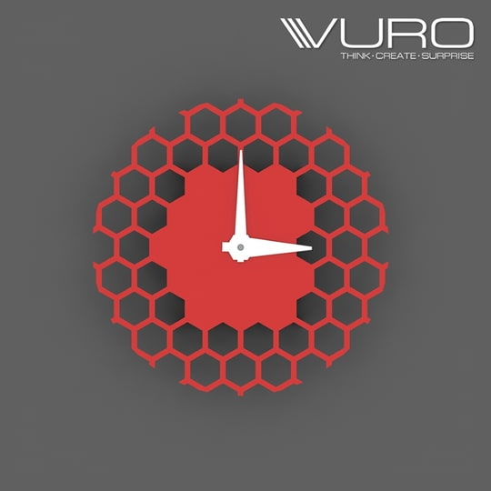Buy 3D Printed Hexaloop Wall Clock by VURO   #trendy #designer #interior #home-decor #walldecor #wallart #wallclocks #roposo-style   #makeup #nationspeaks #be-fashionable #trendy #ropo-love #ootd #indian #youtuber #fashionblogger #newdp #blogger #model #fashion #soroposo #roposo #love #followme #beauty #styles