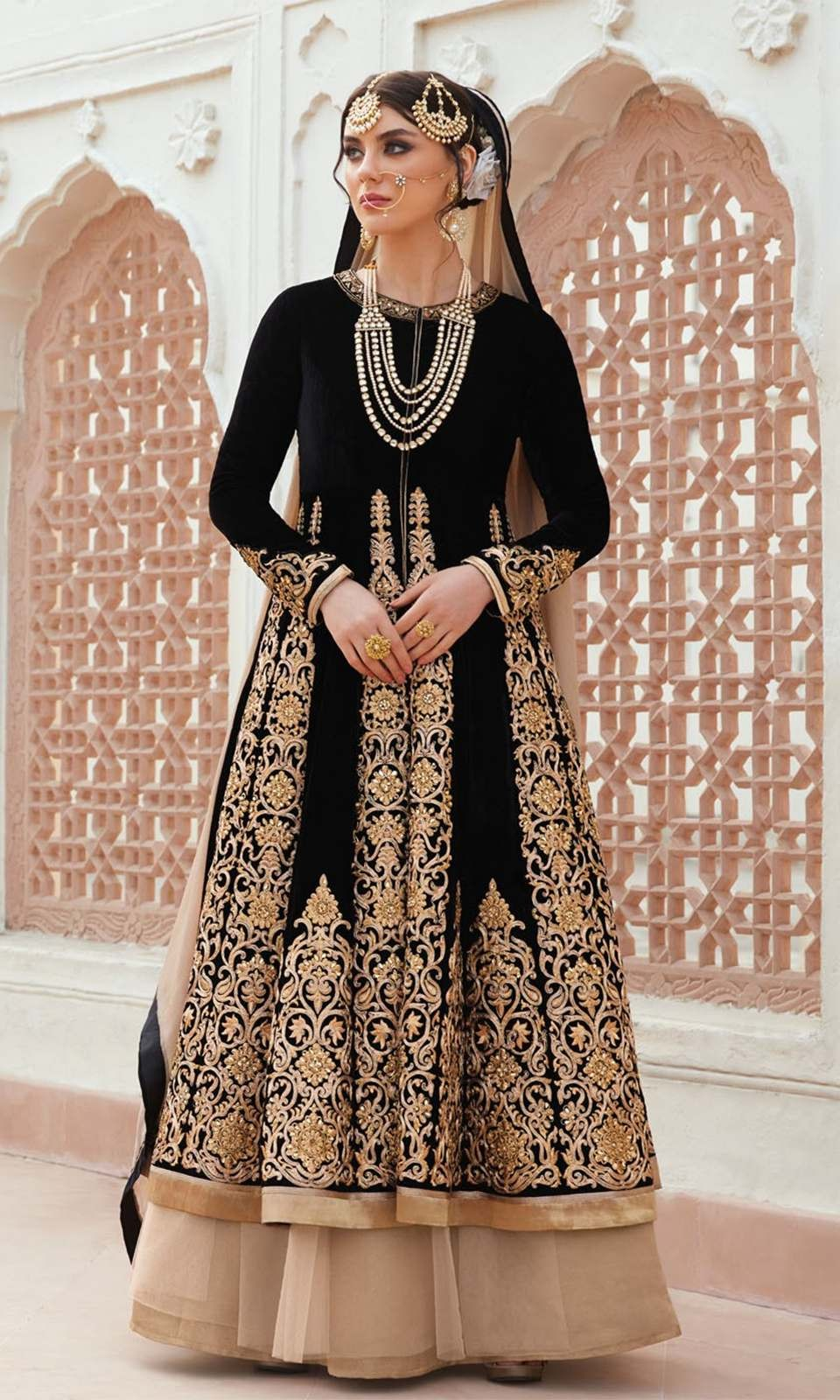 Black and Beige Party Wear Floor Length Designer Suit  • Party Wear Floor Length Designer Suit • This Dress can also be Styled in Lehenga Choli • Fabric :Raw Silk and Net • Salwar Fabric : Net • Dupatta Fabric : Net • Size : Semi-Stitched (customizable Upto size-44)  SKU: SUEJDSFL7405 Rs. 7,199  #styles #beauty #love #followme #roposo #fashion #model #indian