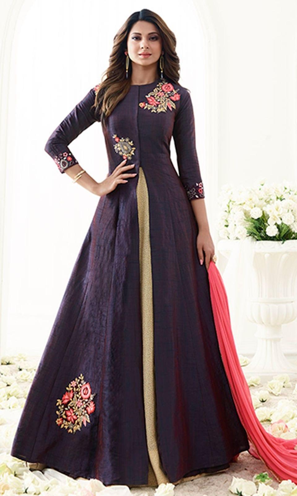Purple Designer Floor Length Anarkali Suit  • Designer Floor Length Anarkali Suit • Fabric : Georgette • Salwar Fabric : Shantoon • Dupatta Fabric : Chiffon • Size : Semi-Stitched (customizable Upto size-44)  SKU: SUEMUG1113 Rs. 3,599  #styles #beauty #love #followme #roposo #fashion #model #indian