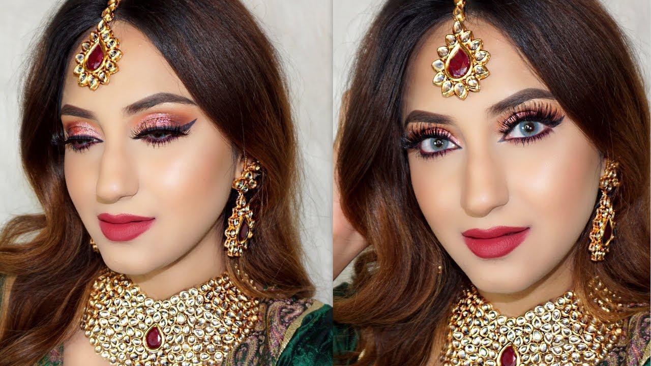 INDIAN BRIDAL MAKEUP LOOK + GIVEAWAY   #makeup #makeupguru #makeuptutorial #makeupartistsworldwide #kyliejenner #beauty #indianyoutuber #makeupartist #indianvlogger #video #beautiful #vlogger #style #like #soroposo #roposolove #nofilter #selfie #happy #smile #fashion #fashionblogger #blogger #maybelline #best #video #love #fashionista #bridal #review