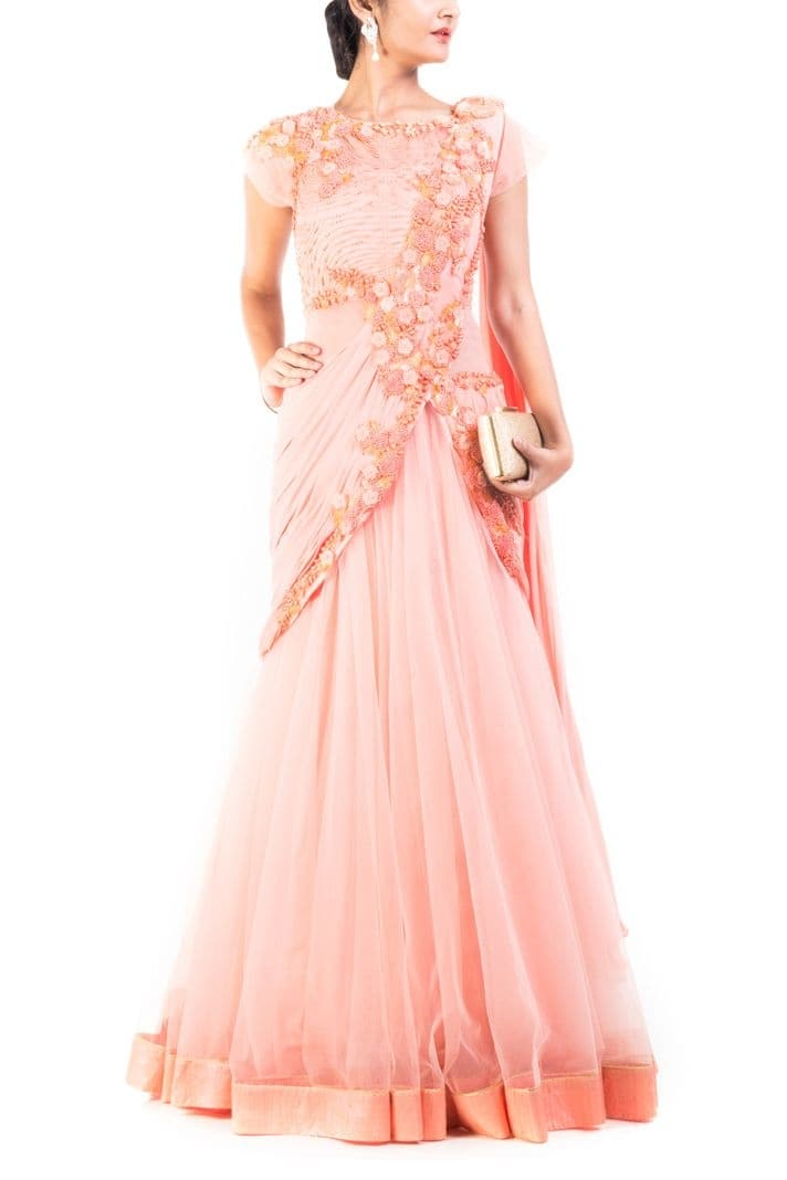 Stitched Lycra Party Wear Lehenga Saree Product Code : LD1670113 Price   : Rs28,400 Fabric: Lycra Color : Peach Size    : 33-43 Work  : Embroidery Visit here : http://bit.ly/2fn2udq #ninecolours #ninecoloursmumbai #partywear #peach #lycra #lycrasaree #buy #buyonline #indianfashion #fashionlove #fabulouslook # goodmood #love #saree #threadwork #embroideredlace #indianstreetfashion #lehengasaree #embroiderey #stylingoutfit #lehenga #peachsaree